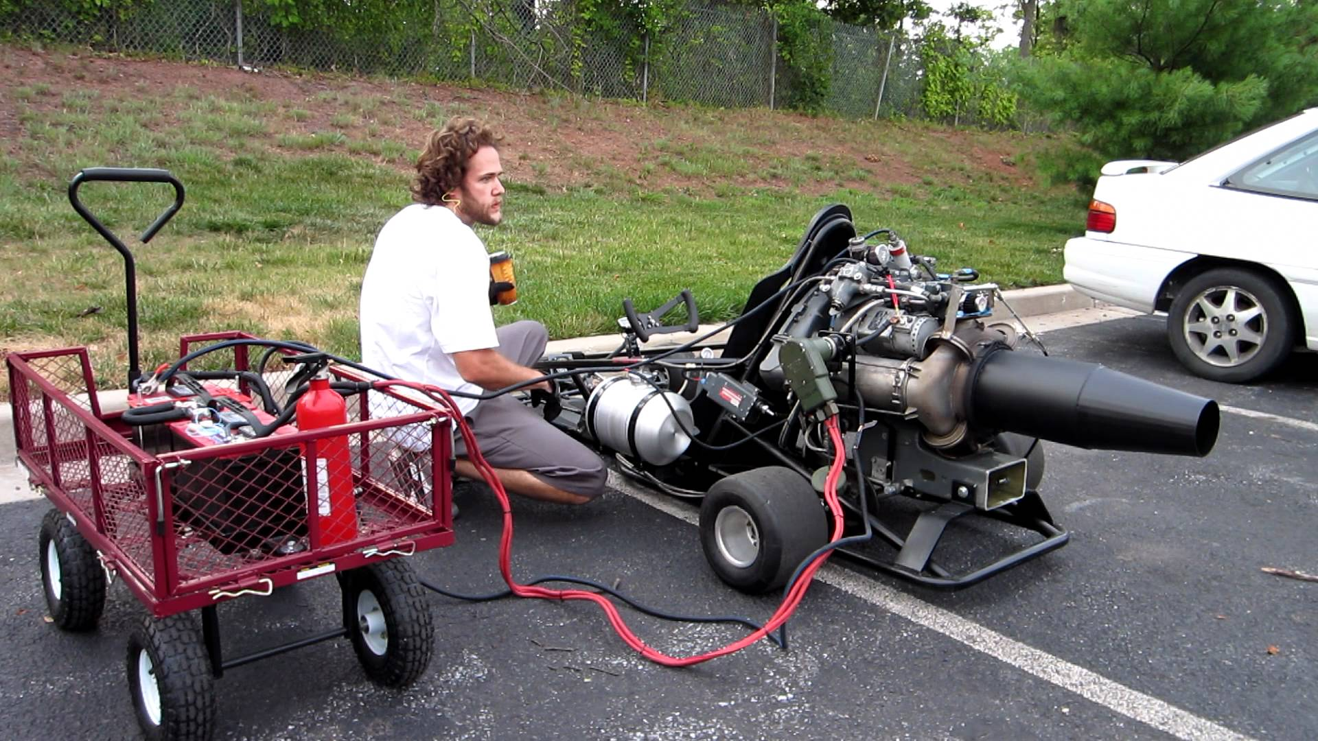 Insane jet engine on a go kart is nuts for Motor go kart for sale