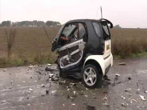 Get A Look At The Incredible Safety Features Of Smart Car And See How It Holds Up During Crash Test