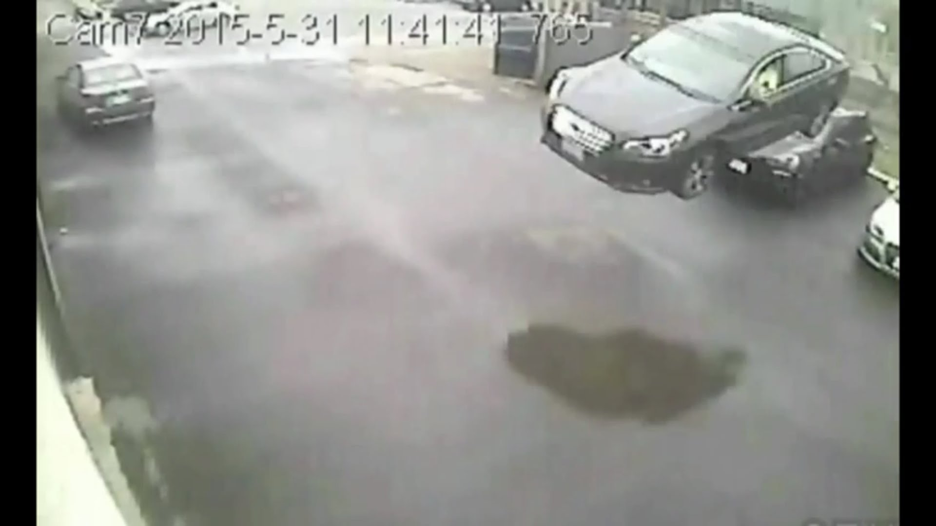 INSANE Footage! Car Flies Through The Air Crashes Into The Building